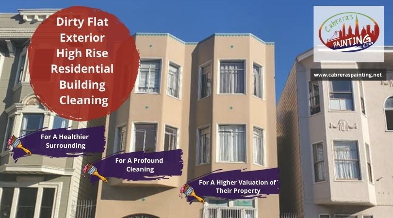 Dirty Flat Exterior: High Rise Residential Building Cleaning