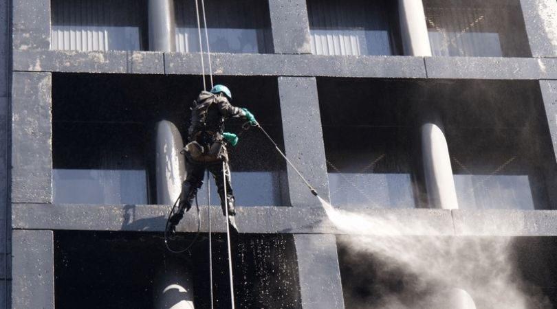 High Rise Residential Building Pressure Washing